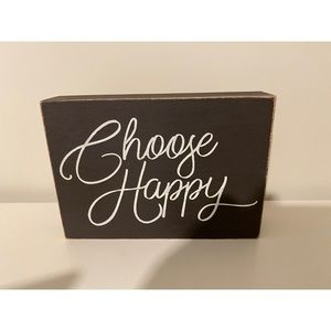 Other - BRAND NEW Choose Happy Wooden Decor 😊☺️